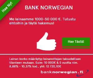 Hae edullista pankkilainaa!